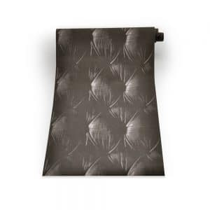 Chesterfield Wallpaper in Black colour on a roll