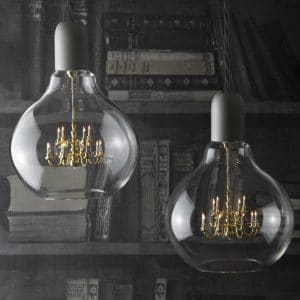 Edison lights in grey colour