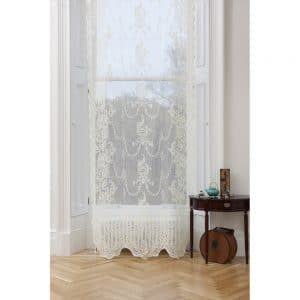 Iona Ayrshire Lace Panel in ivory colour