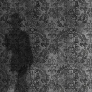 Urban Concrete Damask Wallpaper Dark close