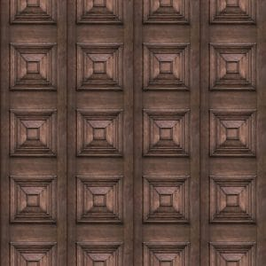 Victorian Panel Wallpaper Dark Oak