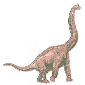 Diplodocus Magnet in Pink colour