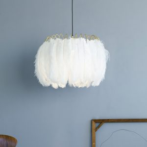 Glamorous what feather pendant Light by Mineheart sold by Curious Egg