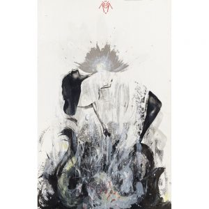 860 x555mm Mixed media original screenprint by Rachel Lee entitled Phobia 2 sold by Curious Egg