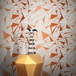 Crystallise Wallpaper by Feathr in copper colour