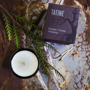 Forest Floor candle Tatine with pine branch lifestyle image