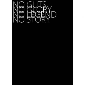 No Guts No Glory art print in black text 30 x 40