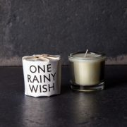 One Rainy Day scented Candle by Tatine on dark background