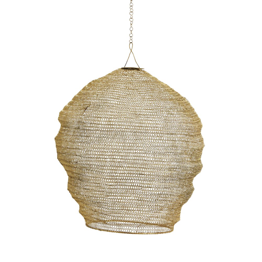 Cocoon wire lampshade curiousegg cocoon lampshade in gold knitted wire greentooth Gallery