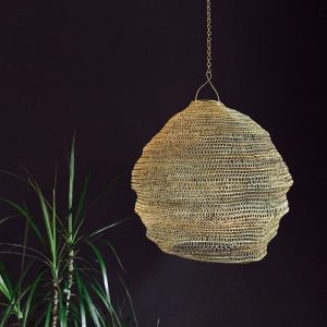 Cocoon lampshade gold home lighting