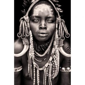 Mayo - Ethiopian Mursi Tribe Woman. Photo by Mario Gerth for sale at curiousegg.com
