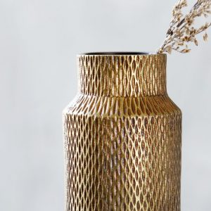 detail of Munu brass handcast vase