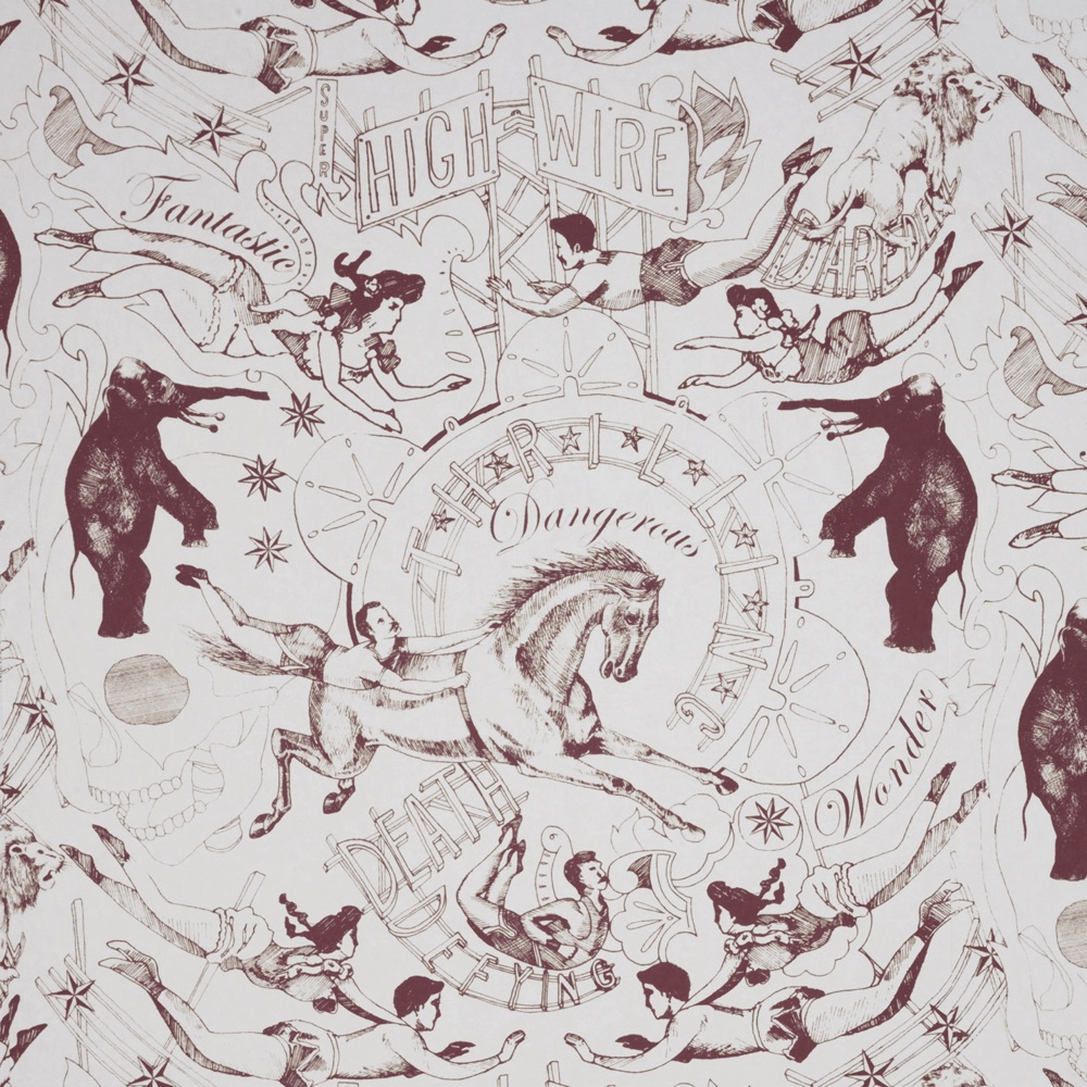 Hand Printed Highwire Wallpaper - CuriousEgg