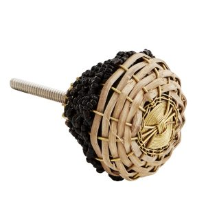 Curious Egg Albi rattan door knob