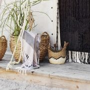 Curious Egg Antibes woven seagrass basket liefetyle image