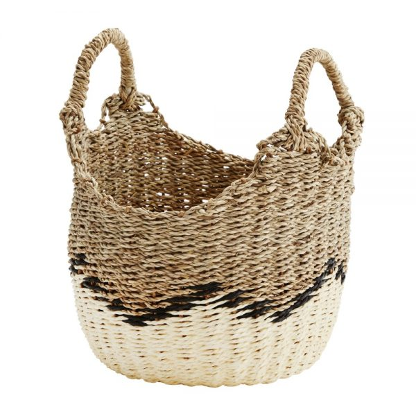Curious Egg Antibes woven seagrass basket