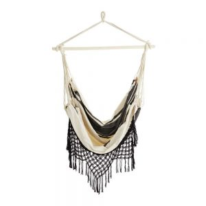 PAMPELONNE HANGING CHAIR OFF WHITE:BLK CUT OUT FULL RES