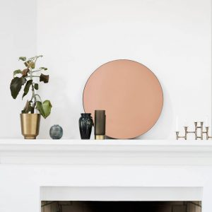 Rose Gold Mirror glass home accessory