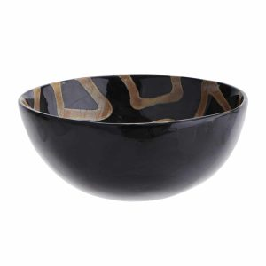 Curious Egg tribal horn bowl
