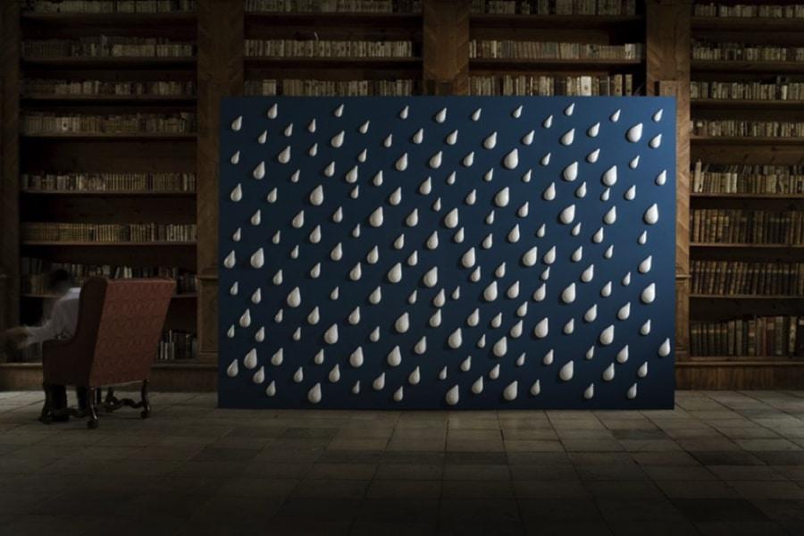 Rain - 3D porcelain wallpaper by Czech artist Daniel Pirsc