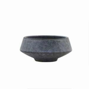 ceramic snack bowl in grey stoneware