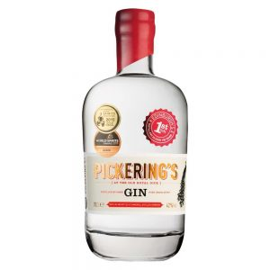 Pickering's gin bottle cutout image on a white background