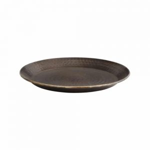 bronze drinks tray with hammered effect