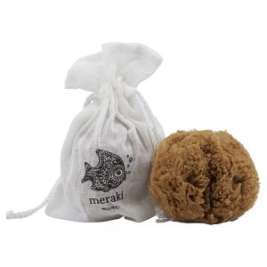Baby Natural sea sponge with muslin bag