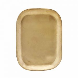 rectangular gold brass drinks tray