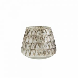 Curious Egg Aquila Ice votive with antique glass finish