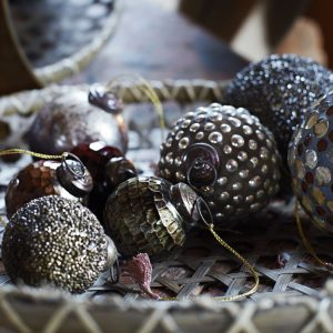 Christmas moroccan style glass bauble decorations