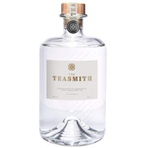 Teasmith gin bottle - cutout on white background