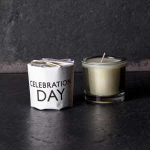 Tatine Celebration Day Candle from the Tisane range. Curious Egg.